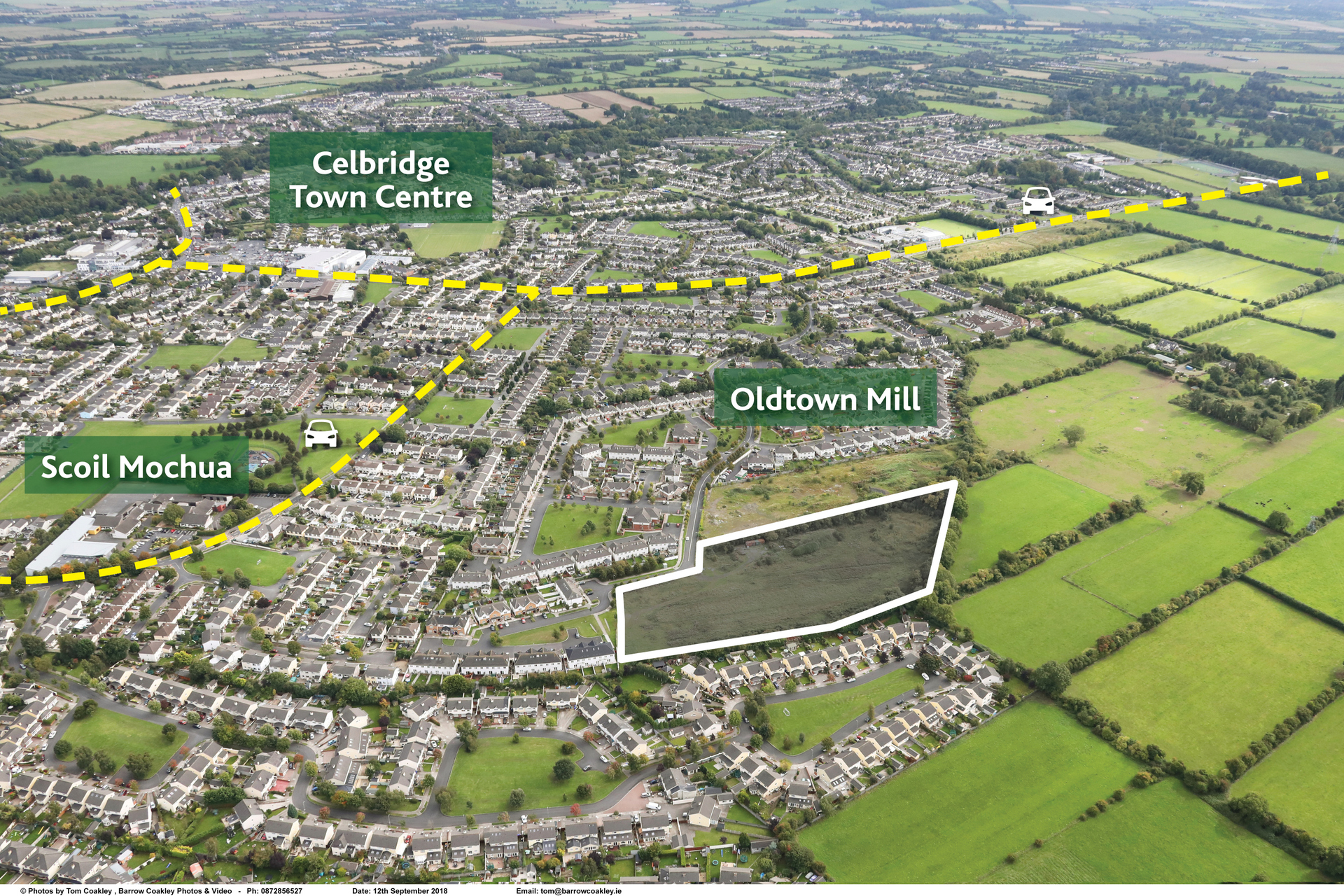 Press Release: Approx. 5.45 acres (2.21 hectares), Oldtown, Celbridge, Co. Kildare – Zoned Residential