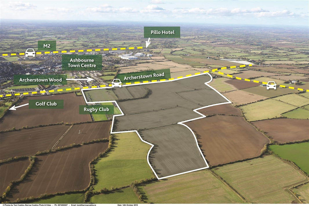 """Land Bank Iinvestment Opportunity"" – 188 acres (76 ha) Ashbourne, Co. Meath"