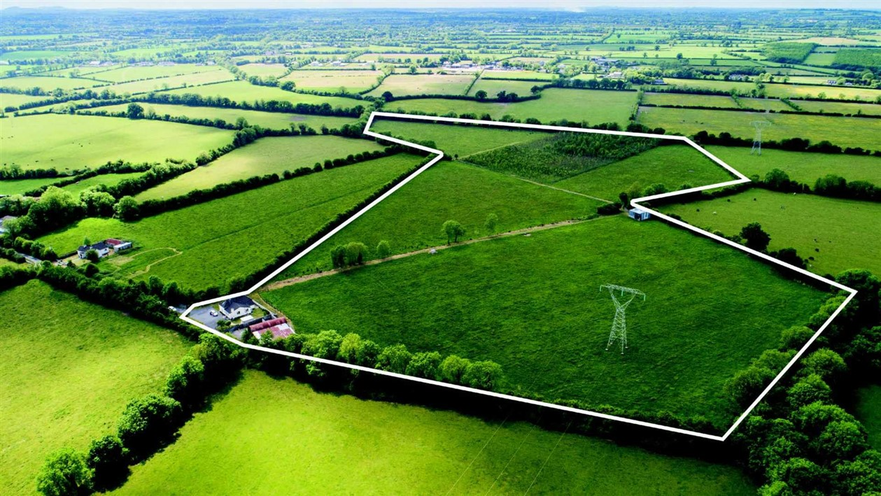 Laragh, Maynooth, Co. Kildare  Residence on 31 acres- Sells under the Gavel for €650,000